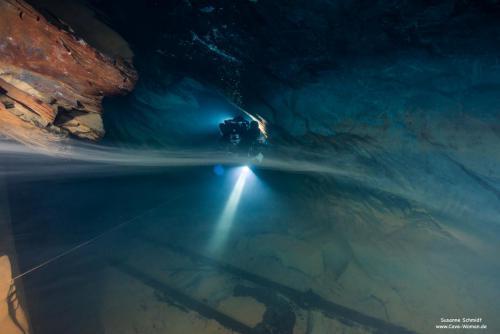 Foto: Cave-Woman Location: Bergwerktauchen Nuttlar